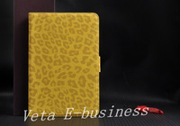 Чехол для планшета New Hot Item Leather Wallet Case for Apple Ipad Mini, Leopard Skin Pouch Cover for Mini Ipad, Factory Price Retail