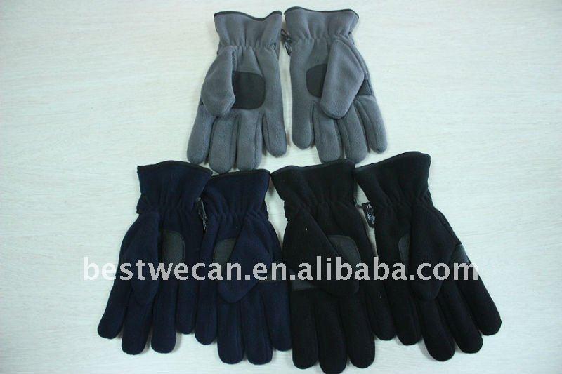 Winter mens fleece glove