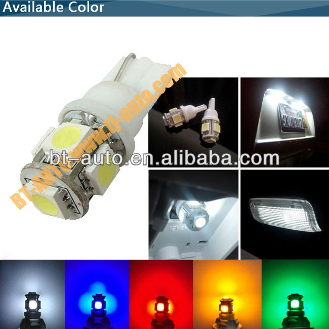 LED Light for Cars W5W T10 Canbus 5050 SMD LED