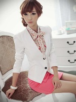 2012 new,Free shipping women's slim small suit jacket/ladies slim blazer short Business/OL jacket coat,S,M,L ,X2214