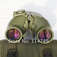 free shipping Mystery dense as the sharp 7x50 green with a compass binoculars Telescope