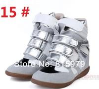 Женские ботинки New Fashion Isabel Marant boots Jeans color Denim Platform Sneakers women shoes 35-42 05
