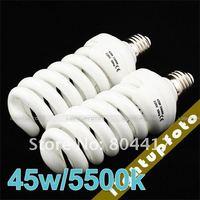 New 100% 2 x 220V Fluorescent Daylight Photo Bulbs 45W 5500K NEW