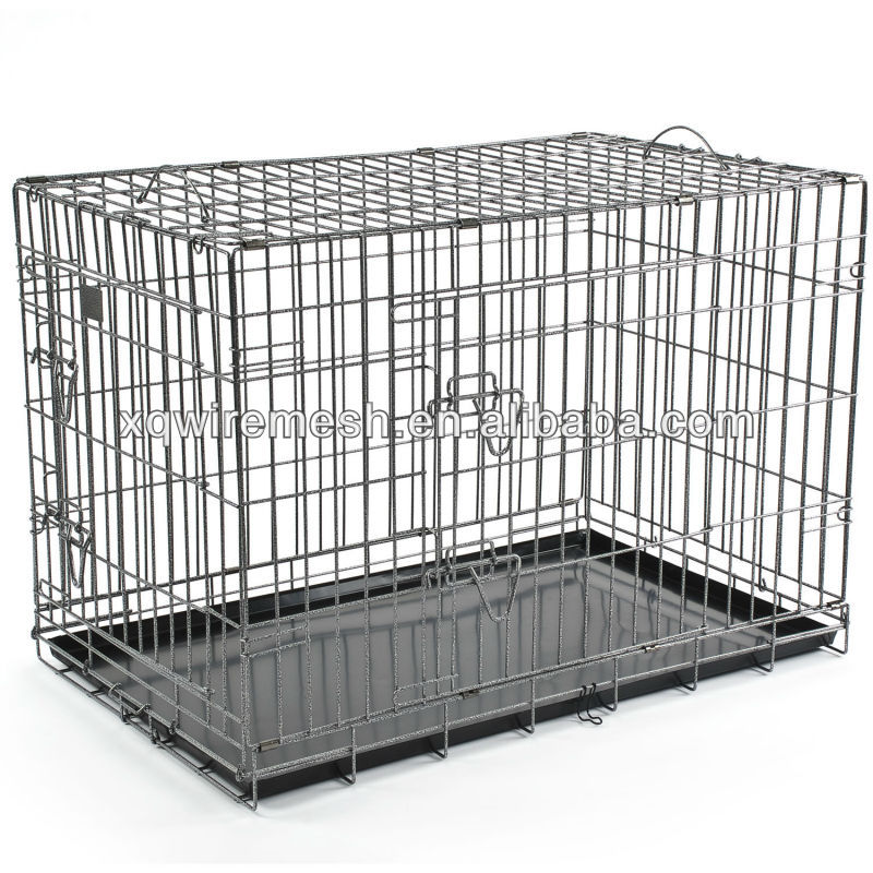 Indoor wire mesh dog kennel
