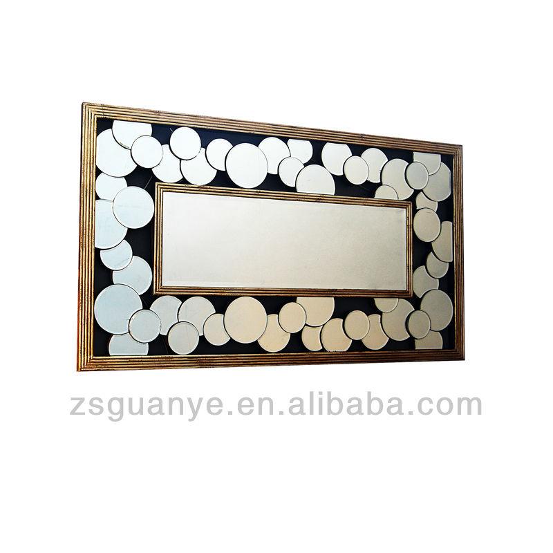 Art d co salon miroir de beaut miroirs muraux miroirs for Colle pour miroir mural