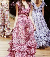 Вечернее платье 2013 Bohemia Floral printed princess Chiffon Maxi Evening Dresses A61