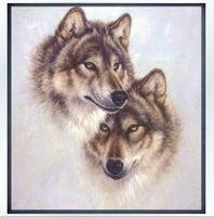 Высший сорт классический высокое качество лучшее качество крест стежком комплекты страна 2 волка головы животных