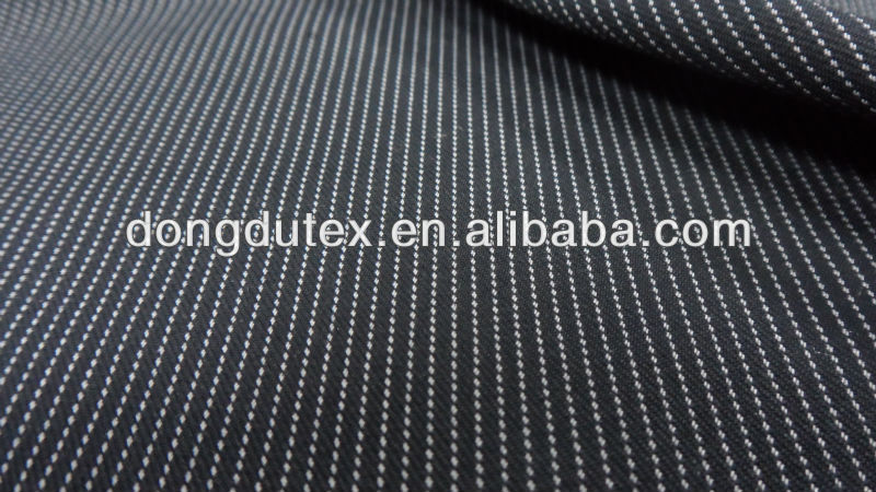 2012 new designs wool touch navy blue and white stripe fabric