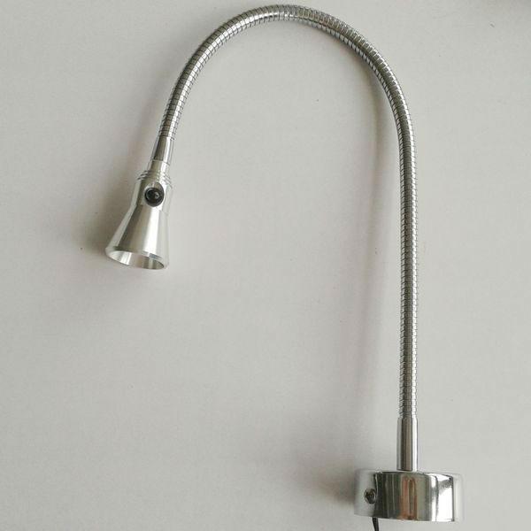 3w flexible hose wall mounted led desk lamp flexible hose. Black Bedroom Furniture Sets. Home Design Ideas