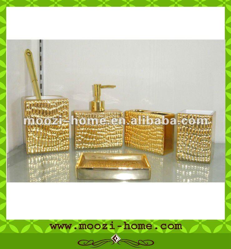 Luxe or céramique salle de bain accessoires set-Lots de ...