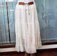 High Quality Womens Chiffon Pleated Long Skirt Hot Sale