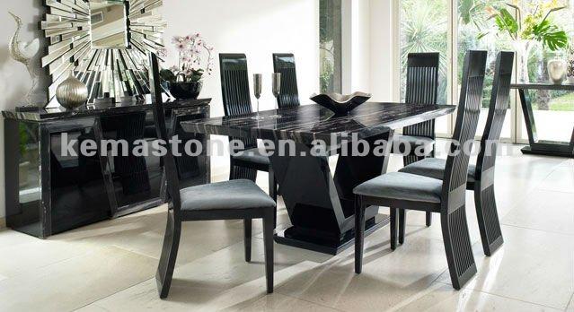 Negro de comedor de m rmol mesa de caf mesas encimeras de - Mesas de marmol de comedor ...