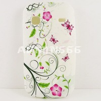 Чехол для для мобильных телефонов Elegant Pink Flower With Green leaves TPU Gel Soft Silicone Case Cover For samsung s5660