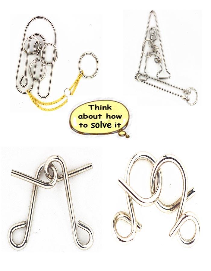 Metal Brain Teaser Puzzles Solutions Metal Puzzle Brain Teaser