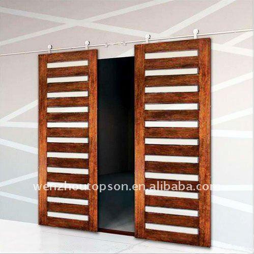 Bypass barn door hardware standard modern barn door hardware - Wooden Double Sliding Door For Interior Sliding Door Buy