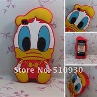 Чехол для для мобильных телефонов cut cartoon Donald Duck silicon case for iphone 4G 4s, MOQ:1pcs