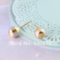 Серьги-гвоздики 24 pcs Genuine18K rose gold& white gold filled shiny ball stud earrings for Christmas gifts
