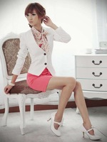 Женский костюм 2012 new, women's slim small suit jacket/ladies slim blazer short Business/OL jacket coat, S, M, L, X2214
