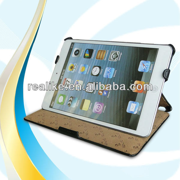 For ipad mini case,heat setting leather case for ipad mini