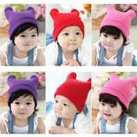 Шапка для мальчиков 1 x New Korean Cute Cat Ear Hat Baby Kid Children Infant Fashion Cap Beanie Earflaps