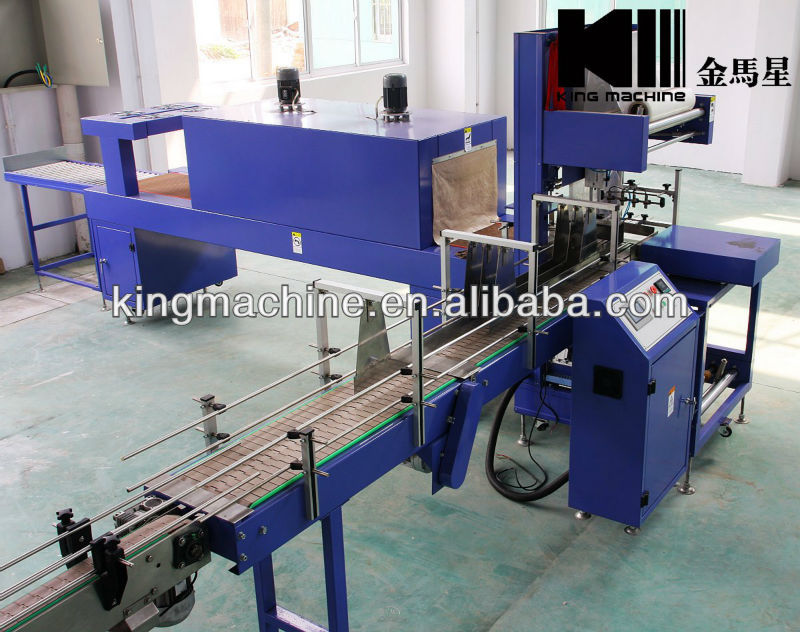 Automatic PET Bottle Film Shrink Wrapping Machine