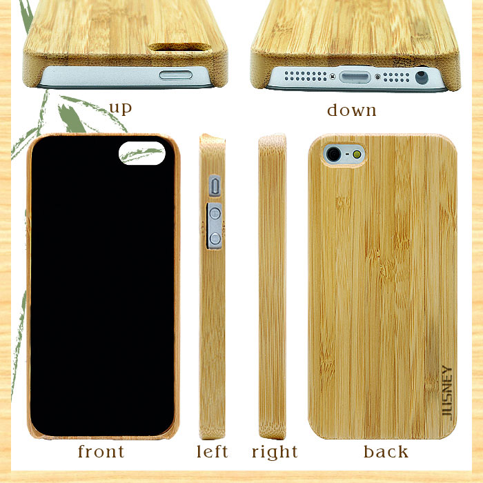 Bamboo Wooden Cheap Mobile Phone Case For Iphone 5/For Iphone 5 mobile case