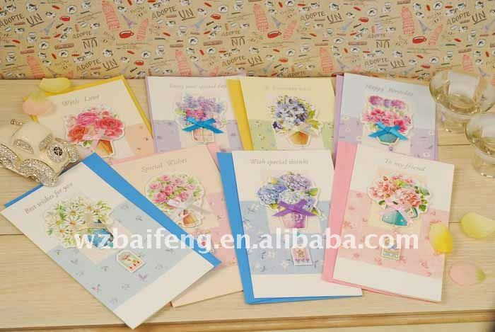2012 paper 3d greeting card for teacher's day