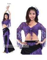 танцует танец живота кружевной костюм Топ 1 шт танцы одежда блузы