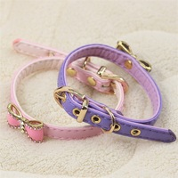 Ошейники и Поводки для собак new design Pu leather dog collars with beautiful decoration for dogs, dog collars