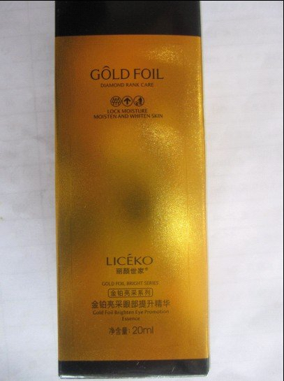 Liceko gold foil brighten eye promotion essence / eye essence / eye lotion