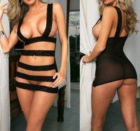 Женское эротическое боди New Sexy Lingerie Dress Underwear Lady Black Teddy+G-string #135AU