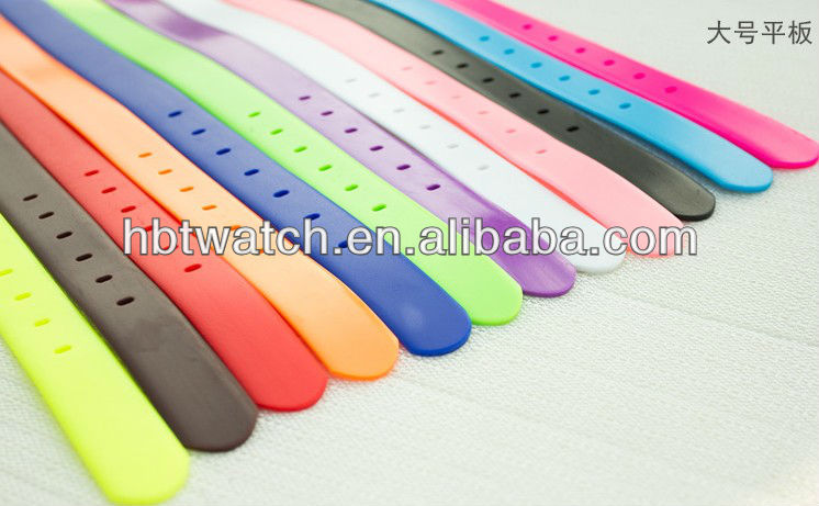Candy colors silicone fashion belt silicone rubber belts