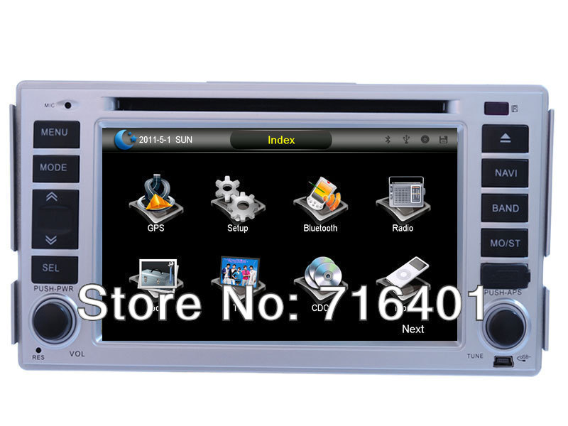 free shipping:hyundai Santa fe gps Navigation 2 din car dvd+GPS Map+ Rear camera back