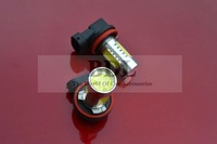 Free shipping 2pcs/pair H8 H7 H11 T20 9006 1157 7.5W high power white LED car bulb with LENS front head led bulb fog light