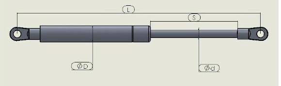 gas spring for engineering van/tension gas springs