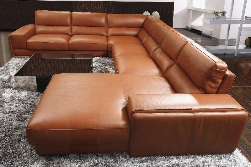 Full Grain Leather Sofa Sc0016 Sc8313