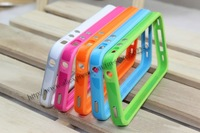 Чехол для для мобильных телефонов 100pcs/lot Case For iPhone 4S Bumper Plastic For iPhone Bumper Frame Perfect Fit For iPhone4 and Cell Phone Accessory For Apple