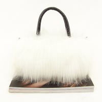 Клатч 2013 new fashion women lady faux fur bag mini handbags shoulder Clutch bags