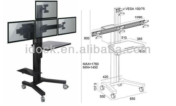 Laptop Printer Desk Desk/laptop Desk Vz1604b