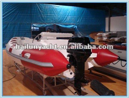 Hot!! CE fiberglass rib speed boats for sale (HLB420)