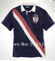 Мужская футболка 2012 Summer Men's polo shirts, brand polo shirts, Men's shirts.100% Cotton.Vintage Jersey Rugby Order SIZE:M-XXL