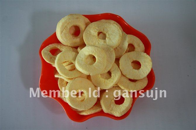 dried fruit green healthy snack food apple chips