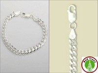 Серебряный браслет fashion metal bracelet 925 silver plated 10mm width for man
