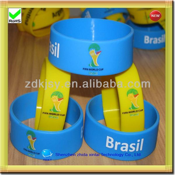2014 nouveau produit coupe du monde de silicone bracelet moule