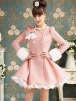 Женская одежда из шерсти KURAKI MAI flouncing S M L XL