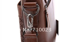 2013 High quality PU Leather men bag, 2013 hot selling Good quality men briefcase,free shipping(8659-3)