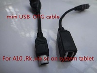Free drop shipping 2pcs/lot high quality 2.0  Mini USB OTG cable Adapter for Tablet PC/MP3/CELL PHONE/GPS