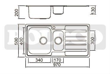 uno e mezzo dimensioni cucina lavello bl-806 prezzi-dispersore di ... - Dimensioni Lavelli Cucina