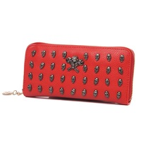 Детали и Аксессуары для сумок New Hot Ladies's Leather Skull Rivet WALLETS, fashion women wallets, ladies long purse/bag