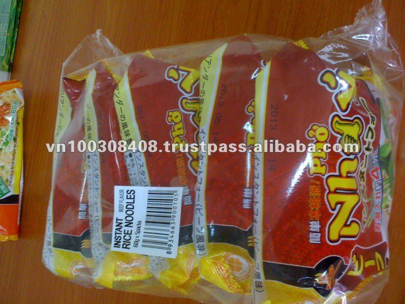 Beef flavour instant rice noodles 60gr